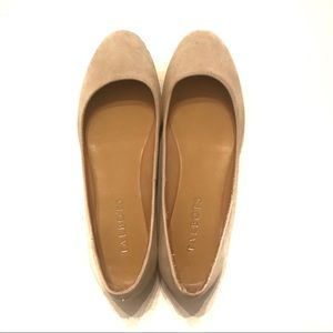 Talbots Cream Suede Shoes Size 5